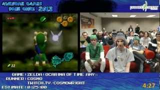 The Legend of Zelda: Ocarina of Time Speedrun in 22:38, live at AGDQ2013