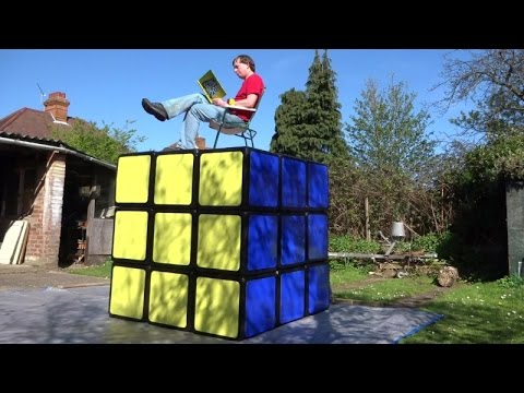 Solving the WORLD'S LARGEST RUBIK'S CUBE puzzle (by Tony Fisher)