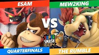 SSC2019 SSBU - PG ESAM (DK, Incineroar) VS FOX MVG Mew2King (Bowser) The Rumble Quarterfinals