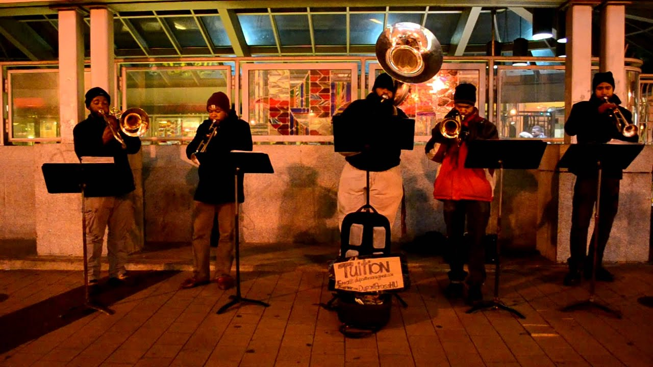 Dupont Brass band performs in Columbia Heights