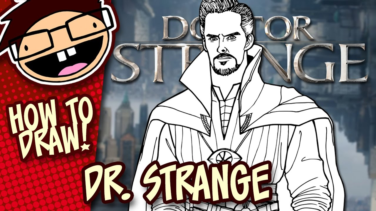 How To Draw Doctor Strange Narrated Easy Step By Step