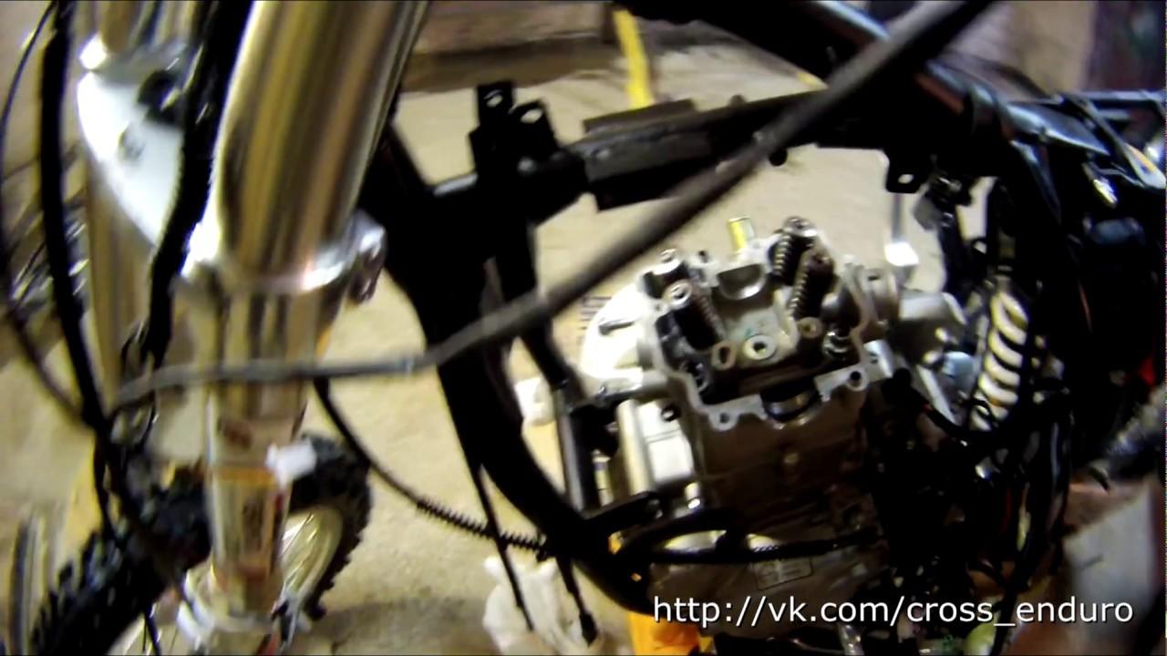 Kayo T6 250RR 2014 Демонтаж узлов, снятие головки цилиндра ZS177MM/EDI250(NC250)