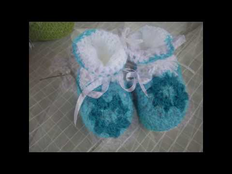 Tutorial Mocasines BebE Crochet o Ganchillo en Espa?ol FunnyDog.TV