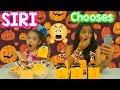 Siri chooses my Mystery bags Halloween Slime Ingredients Challenge!!!