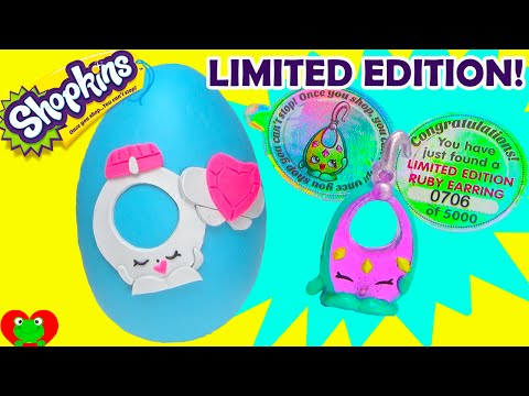 Shopkins Limited Edition Ruby Earring Find and Ring a Rosie