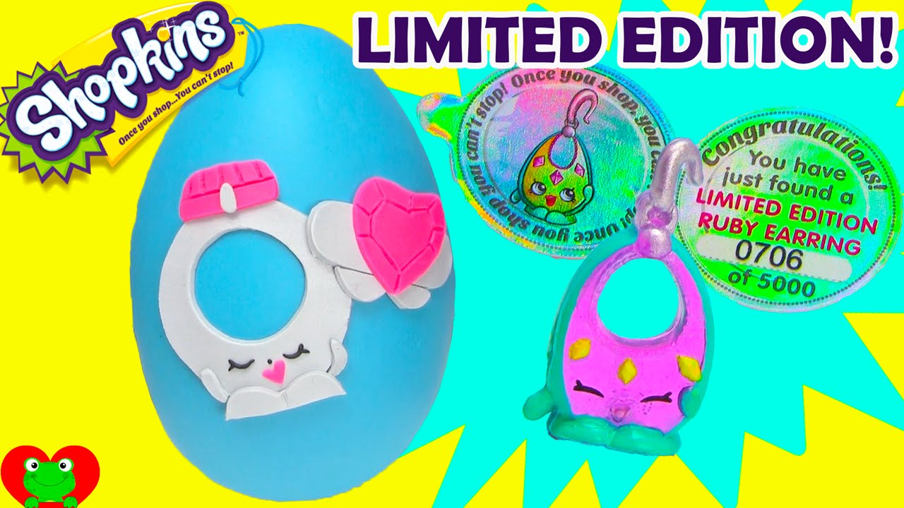 Amazing Shopkins Limited Edition Ruby Earring Find And Ring A Rosie Play Doh  Surprise Egg   YouTube
