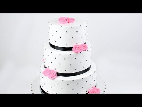 three-tiered-whipped-cream-rose-cake-tutorial