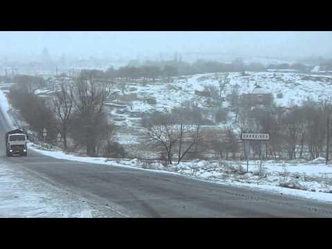 Движение грузовиков с углем в Шахтерске