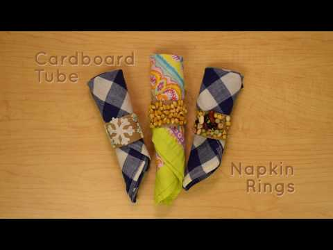 Cardboard Tube Napkin Rings Craft