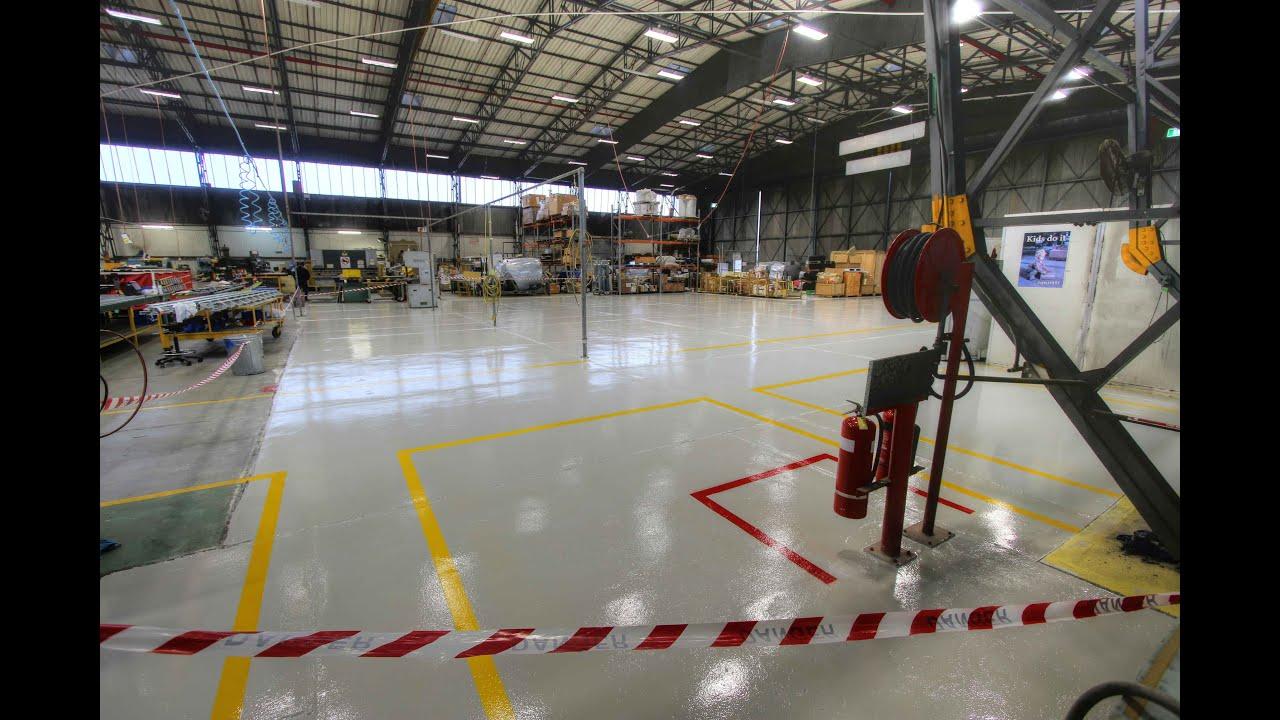 Rhino ArmaFloor   Warehouse Floor Coatings   YouTube