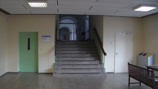 1972 original OSMA elevator at Ubbo-Emmius-Gymnasium Leer, Germany
