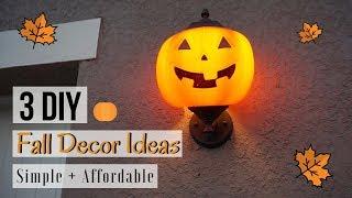 3 DIY FALL DECOR IDEAS | FALL 2018