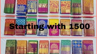 Pothys silk sarees collections  with price 1500 to 8500 rs collections....