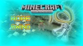 Minecraft Xbox360 - Rope Swing Tutorial | Swing And Move On Ropes | [NO MODS]
