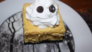 Halloween Dessert! Halloween Week! Pumpkin And Oreo Cheesecake Bars From Scratch
