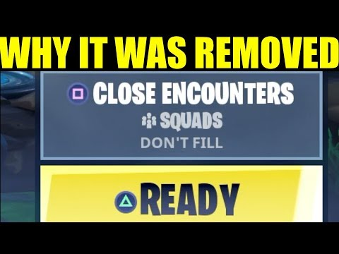 """Fortnite Why Close Encounters Was Removed """"Close Encounters Gameplay"""""""