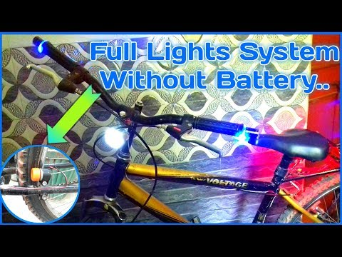 Glow All Cycle lights Without Battery Using A Motor..