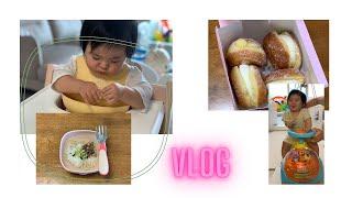 (Vlog)육아 브이로그/11개월아기 / 완료기이유식반…