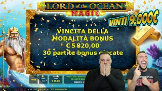 SLOT ONLINE - VINTI 9.000€ alla LORD OF THE OCEAN MAGIC 🔱 🎰 [fino a BET 30] #2