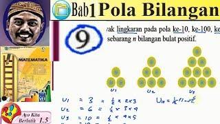 pola bilangan, matematika kelas 8 BSE  kurikulum 2013 revisi 2017 lat  1,5 no 9 banyak bola pada
