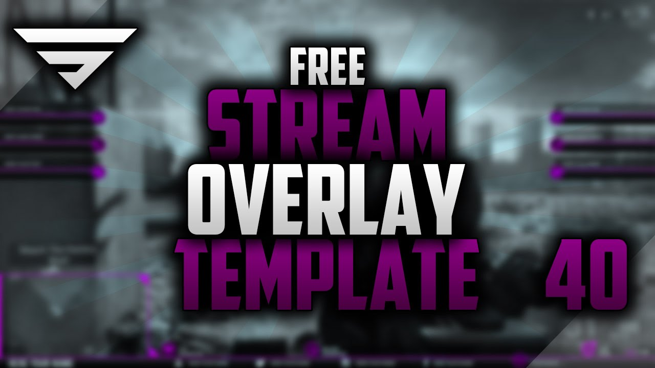 Free Twitch Overlay Template #40 | Photoshop CC Seangraphicx | Play