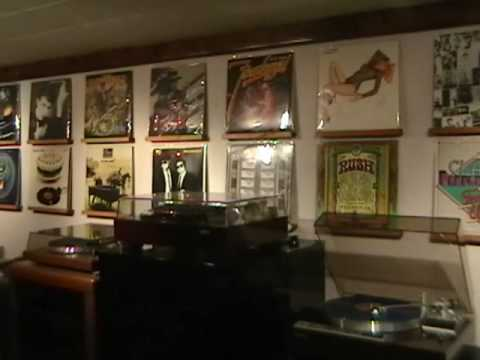 Wall Display Of Vinyl Lps Youtube