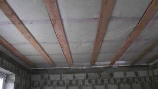 Черновой потолок по деревянным перекрытиям. Пароизоляция и доска. Обзор