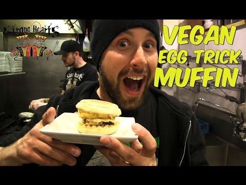 Vegan Egg Trick Muffin | Breakfast Sandwich | Strong Hearts Cafe ZOMBIE#14
