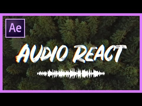 How to Make Text or Objects React to Music or Audio | Adobe After Effects CC Tutorial