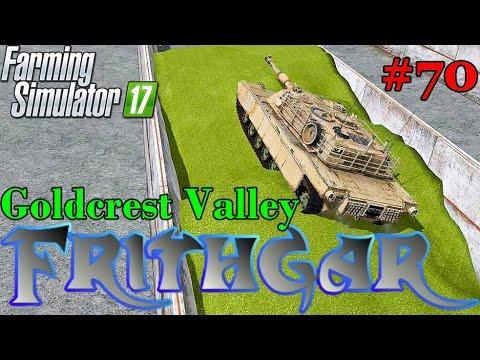 Let's Play Farming Simulator 2017, Goldcrest Valley #70: Abrams Desert Tank!