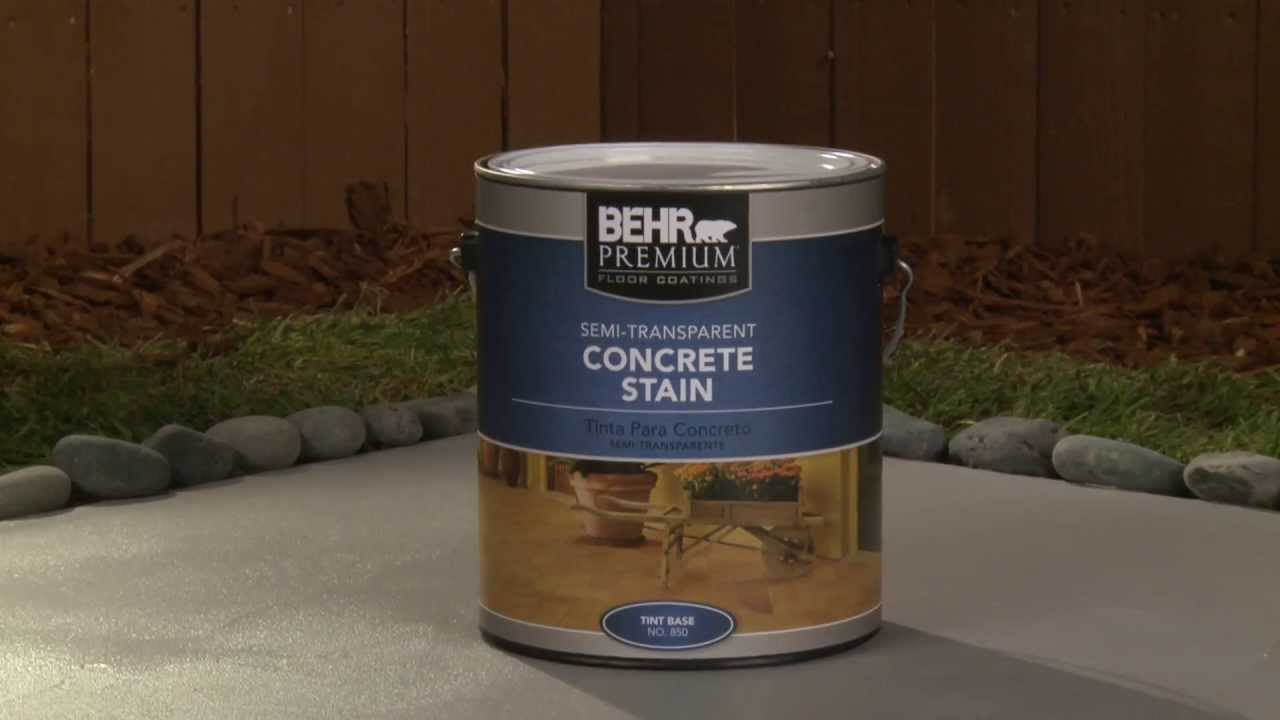 How To Apply Behr Premium Semi Transparent Concrete Stain Youtube