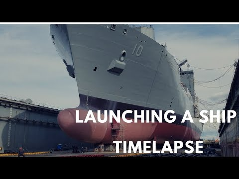 Launching A Ship from Dry Dock