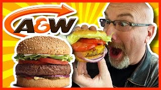 A&W Uncle Burger & Onion Ring Upgrade with Coupons Plus Bonus Food