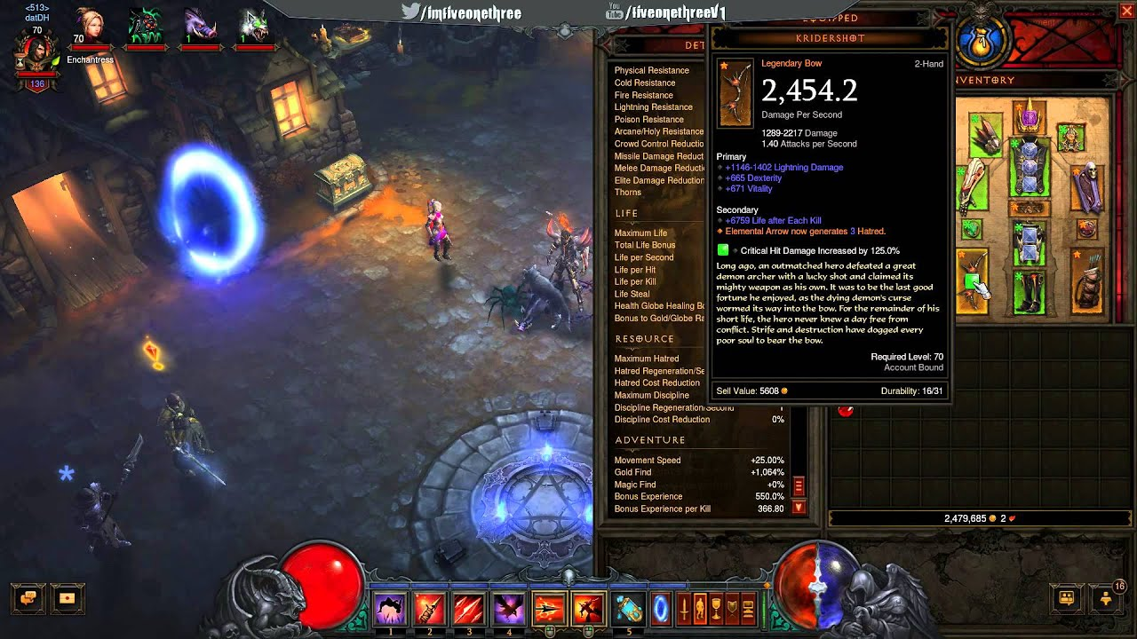 Diablo  Demon Hunter Sentry Build