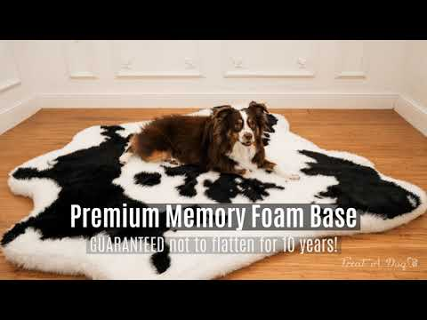 puprug™-faux-cowhide-memory-foam-dog-bed