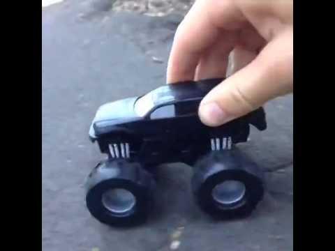 The guy inside the Hot Wheels car