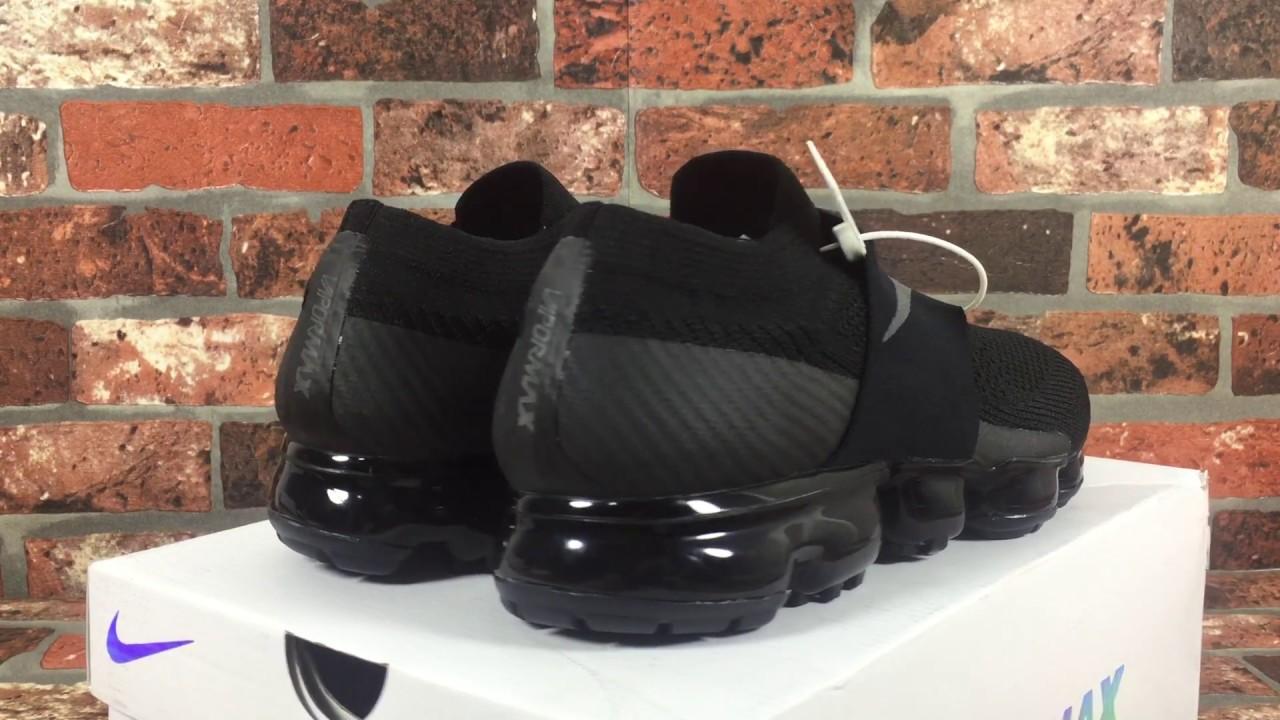 9b898b203d ... COMME Des GARÇONS x Nike Air VaporMax Laceless AH3397 004; Mens Nike  Air Vapormax Flyknit Moc Black ...
