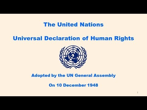 The Declaration of Human Rights -- December 1948
