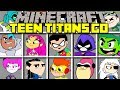 Minecraft TEEN TITANS GO MOD! l BECOME ROBIN, CYBORG, BEAST BOY, STARFIRE & MORE! l Modded Mini-Game