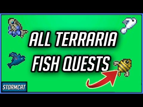 TERRARIA 1.4 ALL ANGLER FISHING QUESTS (2020) TERRARIA ALL QUEST FISH LOCATIONS