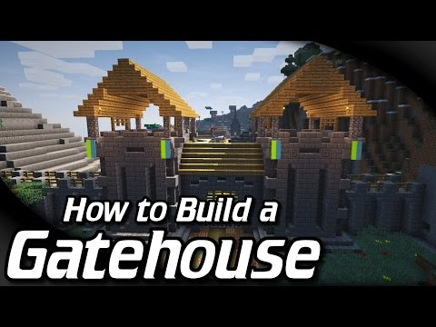 How to Build a Gatehouse in Minecraft (w/ andyisyoda)
