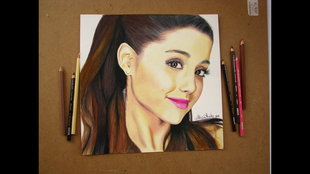 How To Draw Ariana Grande  Colored Pencil Art - Youtube-2339