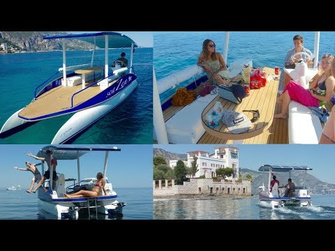 Boat rental on the Côte d'Azur between Nice and Monaco