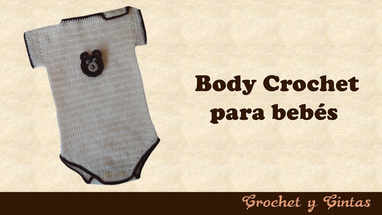 Body para bebés tejido a crochet (ganchillo) - YouTube