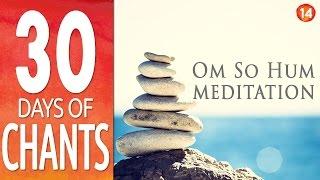 Day 14  ~ OM SO HUM ~ Meditation Mantra ~ 30 Days of Chants