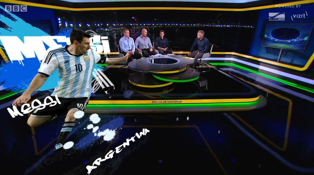bbc sport 39 s fifa world cup 2014 virtual graphics with. Black Bedroom Furniture Sets. Home Design Ideas