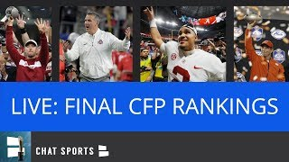 CFP Rankings - LIVE - The Top 25 Final College Football Playoff Rankings
