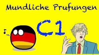 Mündliche Prüfungen C1 - Goethe Zertifikat | Aktueller Zertifikat Deutsch Test C1 Niveau