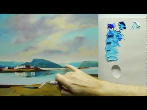 how-to-paint-landscapes:-colour-mixing-acrylics-using-colour-strings