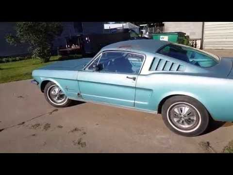 1966 mustang fastback walk around and test drive